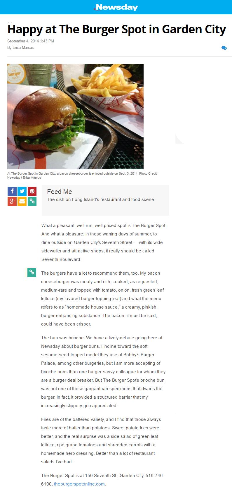 News The Burger Spot